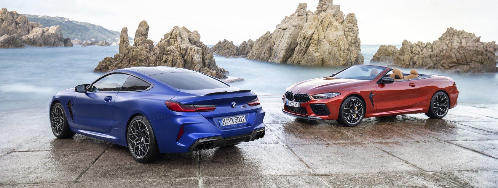 De nieuwe BMW M8 Coupe en BMW M8 Cabrio